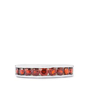 1.33ct Mozambique Garnet Sterling Silver Ring