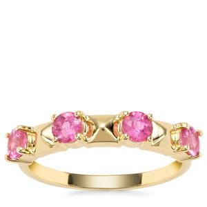 Pink Tourmaline Ring in 9K Gold 0.68ct