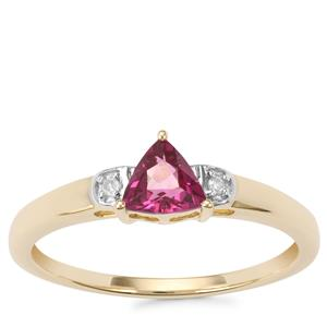 Comeria Garnet Ring with Diamond in 10K Gold 0.52ct