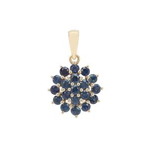 Australian Blue Sapphire Pendant in 9K Gold 1.51cts