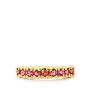 Pink Tourmaline Ring  in 9K Gold 0.57ct