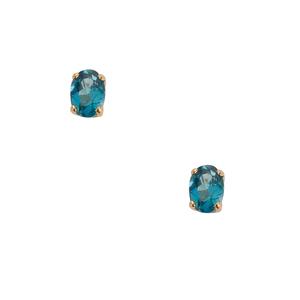 1.88ct Ceylonese London Blue Topaz Gold Tone Earrings