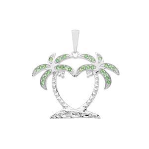 Tsavorite Garnet Pendant in Sterling Silver 0.46ct