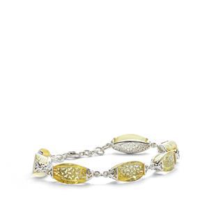 Baltic Champagne Amber Sterling Silver Bracelet