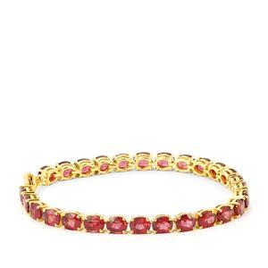 22ct Malawi Garnet Gold Vermeil Bracelet