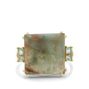 Aquaprase™ Ring with Aquaiba™ Beryl in 9K Gold 10.35cts