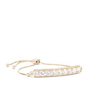 Singida Tanzanian Zircon Slider Bracelet in 9K Gold 5.79cts