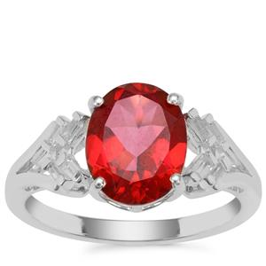 Cruzeiro Topaz Ring with White Zircon in Sterling Silver 3.20cts