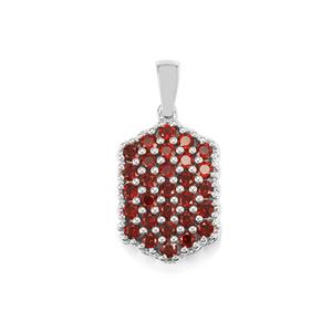 Anthill Garnet Pendant in Sterling Silver 1.69cts