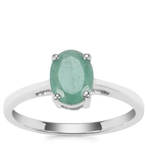 Carnaiba Brazilian Emerald Ring in Sterling Silver 1.15cts