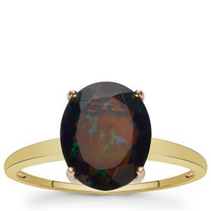 2.15ct Ethiopian Midnight Opal 9K Gold Ring
