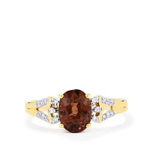 Bekily Colour Change Garnet & Diamond 18K Gold Tomas Rae Ring MTGW 2.23cts