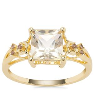 Serenite Ring with Champagne Diamond in 9K Gold 1.62cts
