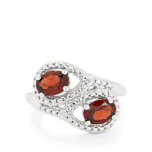 Rhodolite Garnet & Diamond Sterling Silver Ring ATGW 2.04cts