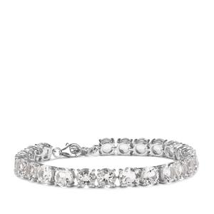 Optic Quartz Bracelet in Sterling Silver 26.13cts