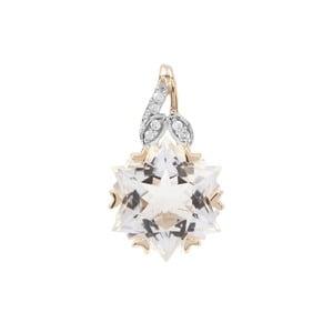 Wobito Snowflake Cut Itinga Petalite Pendant with Diamond in 9K Gold 3.72cts