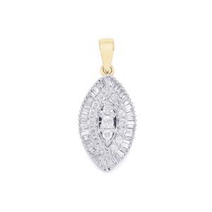 Diamond Pendant in 10k Gold 0.51ct