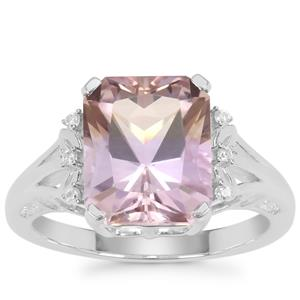 Anahi Ametrine Ring with White Zircon in Sterling Silver 3.96cts