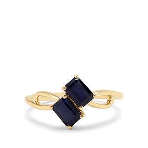 1.53ct Ethiopian Blue Sapphire 9K Gold Ring