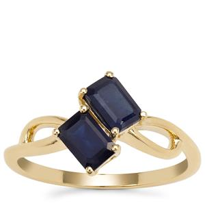 Ethiopian Blue Sapphire Ring in 9K Gold 1.53cts