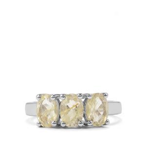 2.04ct Bahia Rutilite Sterling Silver Ring
