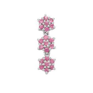 0.61ct Sakaraha Pink Sapphire Sterling Silver Pendant