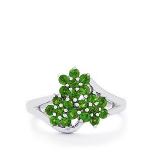 1.02ct Chrome Diopside Sterling Silver Ring