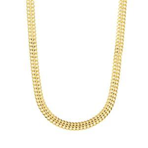 """18"""" Midas Dettaglio Diamond Cut Bismark Chain 2.82g"""