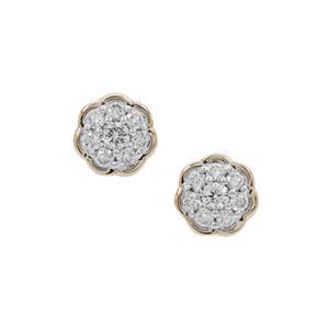 1/4ct Argyle Diamond 9K Gold Earrings