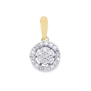 Diamond Pendant in 18k Gold 0.26ct