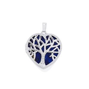 20.41ct Sar-i-Sang Lapis Lazuli Sterling Silver Locket