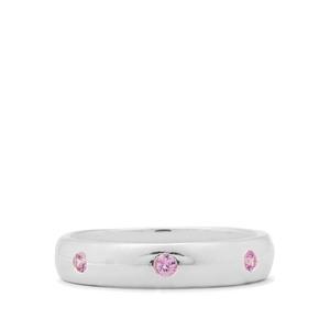 0.33ct Sakaraha Pink Sapphire Sterling Silver Ring
