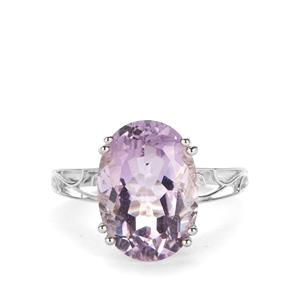 Rose De France Amethyst Ring in Sterling Silver 5.20cts