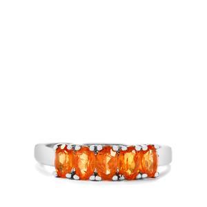 1.60ct Serengeti Spessartite Garnet Sterling Silver Ring
