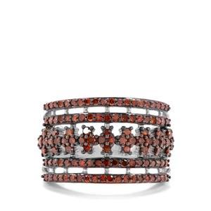 1.05ct Cognac Diamond Sterling Silver Ring
