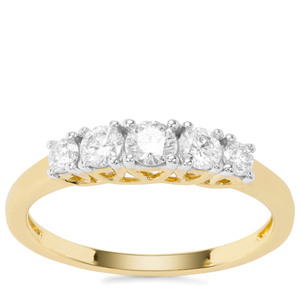 Diamond Ring in 18K Gold 0.51cts