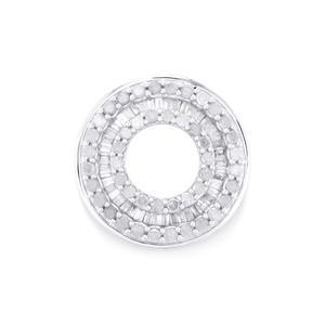 Diamond Pendant in 10K White Gold 0.76ct