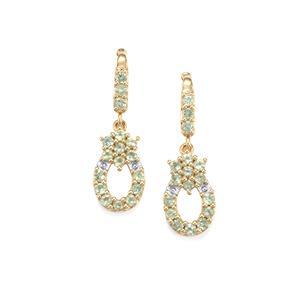 Alexandrite Earrings in 10K Gold 1.39cts