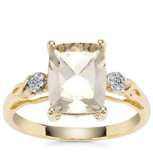 Serenite Ring with Diamond in 9K Gold 2.84cts