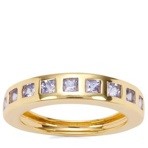 Tanzanite Ring in Gold Plated Sterling Silver 0.85ct