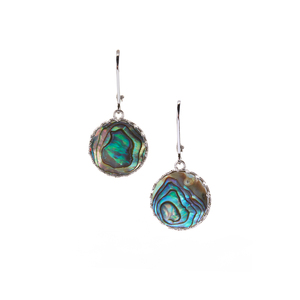 Paua Earrings in Sterling Silver (13mm)