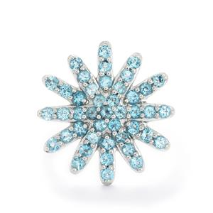 3.45ct Swiss Blue Topaz Sterling Silver Ring
