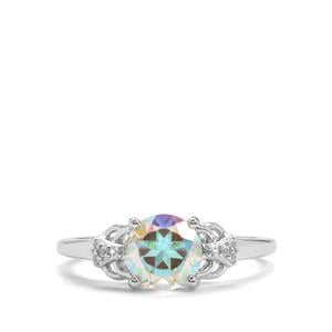 Mercury Mystic Topaz Ring with White Topaz in Sterling Silver 1.57cts