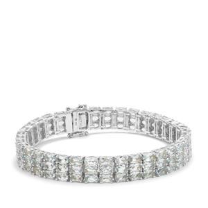 21.58ct Aquamarine Sterling Silver Bracelet