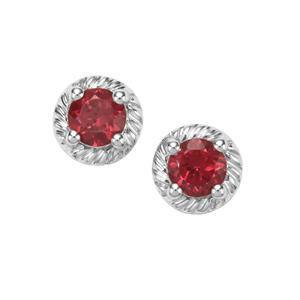 0.87ct Rajasthan Garnet Sterling Silver Earrings