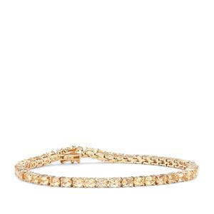 Ouro Preto Imperial Topaz Bracelet in 9K Gold 8.06cts