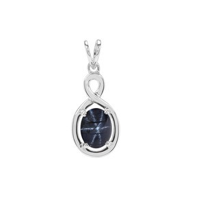 4.35ct Madagascan Blue Star Sapphire Sterling Silver Pendant