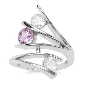 Cullinan Topaz Ring with Rose De France Amethyst in Sterling Silver 1.91cts