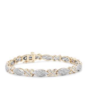 2ct Diamond 9K Gold Tomas Rae Bracelet