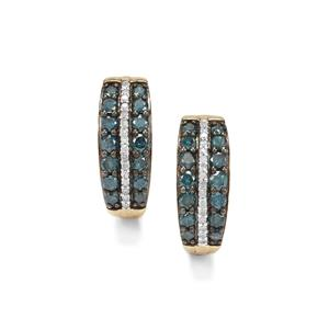 1ct Blue & White Diamond 10K Gold Tomas Rae Earrings